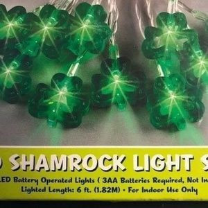 Other - Shamrock String Lights 6 feet Indoors New Holiday